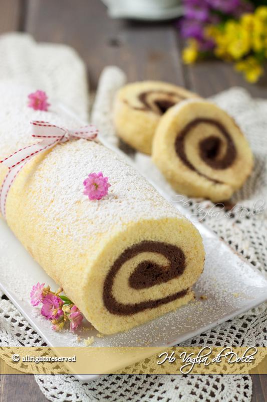 Rotolo con crema al mascarpone e cioccolato ricetta facile
