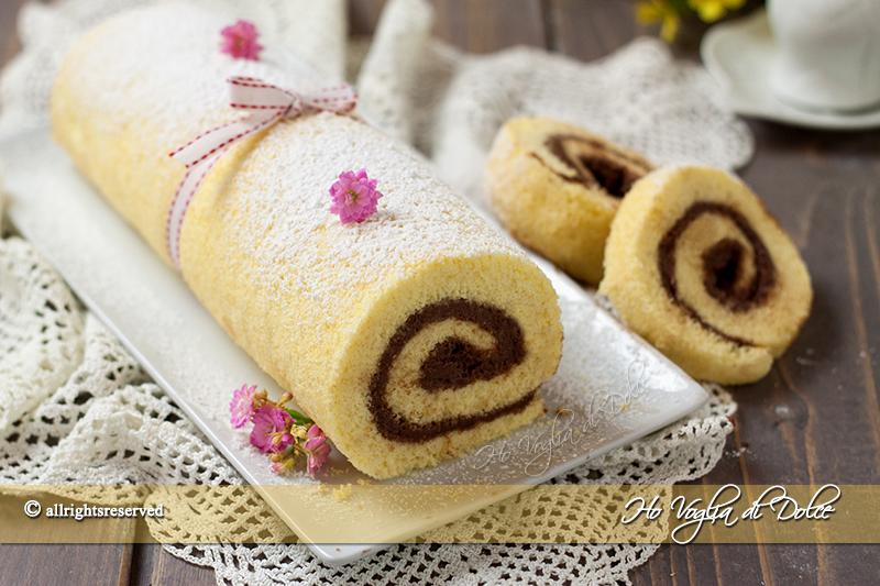 Rotolo crema al mascarpone e cioccolato ricetta