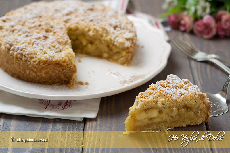sbriciolata alle mele ricetta torta facile
