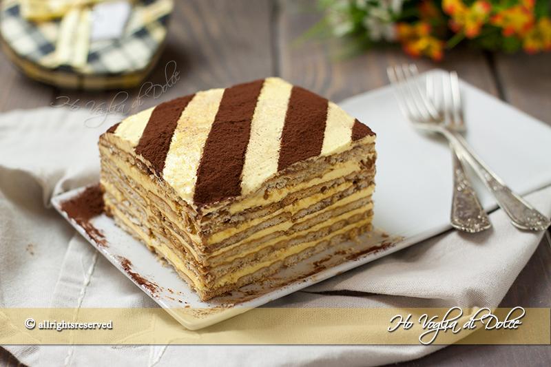 Torta mattonella con crema al burro ho voglia di dolce for Nuove ricette dolci