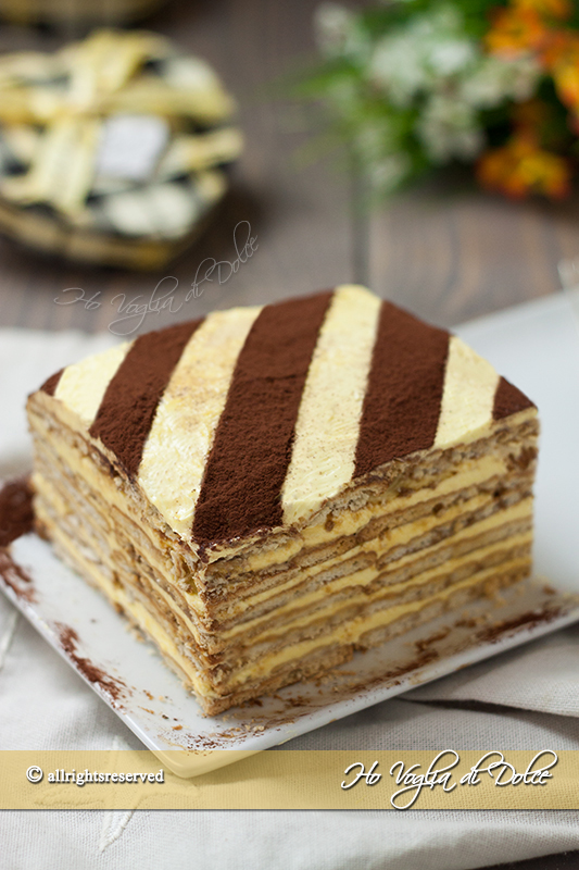 torta mattonella con crema al burro e caffè ricetta
