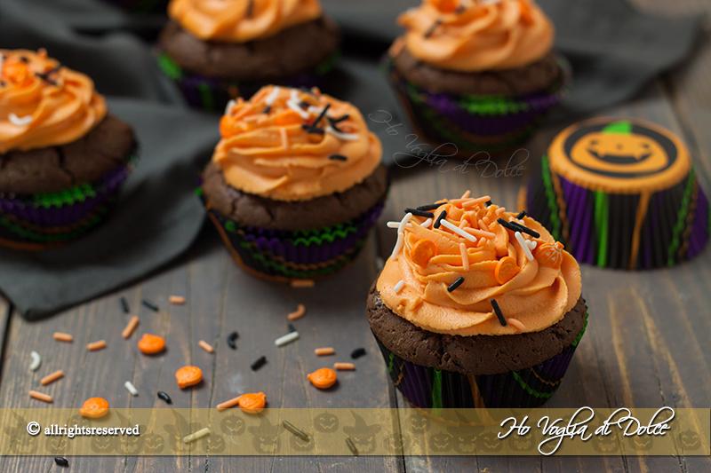 Cupcakes di Halloween al cioccolato ricetta veloce