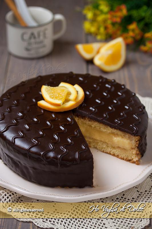 Torta arancia e cioccolato ricetta torta Fiesta