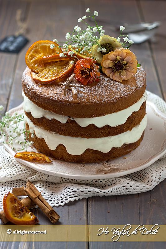 naked cake all'arancia torta nuda ricetta
