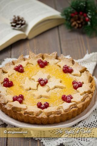 crostata all'arancia e cannella natalizia ricetta facile