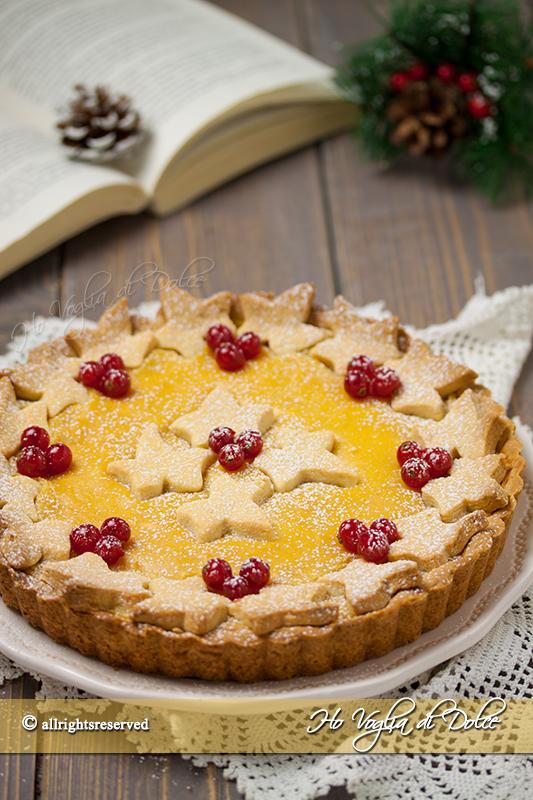 Crostata all'arancia e cannella natalizia ricetta
