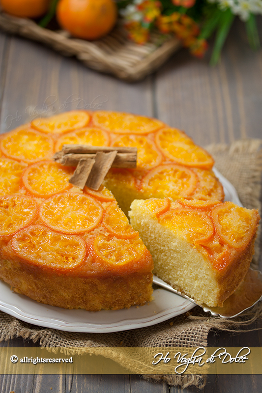 Torta rovesciata di mandarini ricetta facile