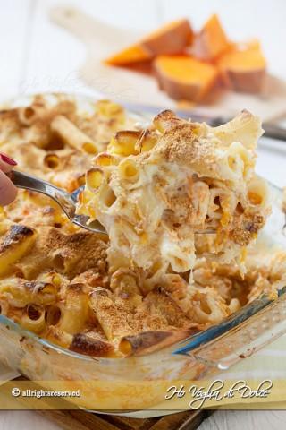 pasta al forno con la zucca, salsiccia e besciamella ricetta facile
