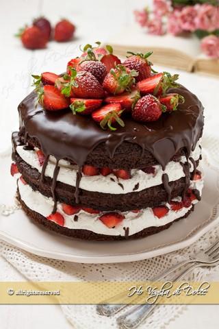 torta cioccolato e fragole ricetta
