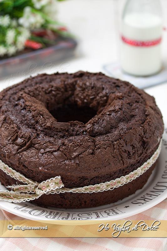 Ciambella al cioccolato sofficissima ricetta