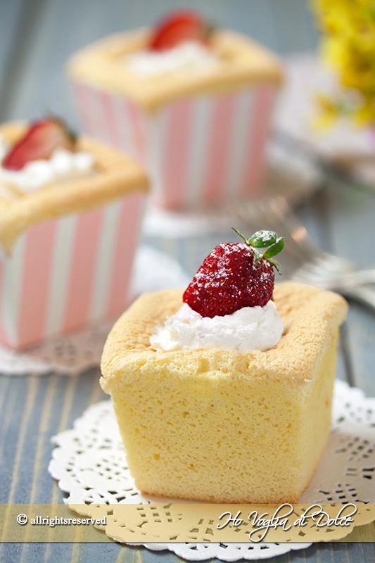Hokkaido chiffon cupcakes ricetta sofficissima