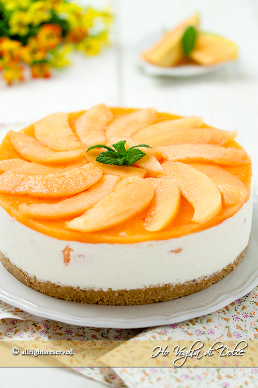 cheesecake al melone ricetta senza cottura facile