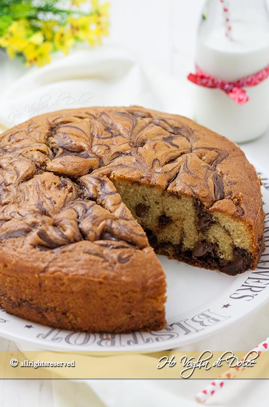 Torta alla Nutella marmorizzata e morbida ricetta facile