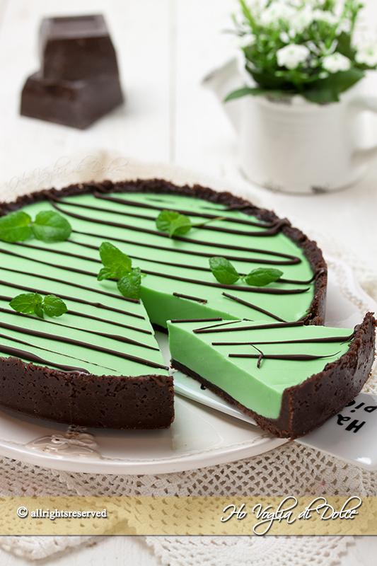 Favorito Crostata menta e cioccolato ricetta | Ho Voglia di Dolce MN76