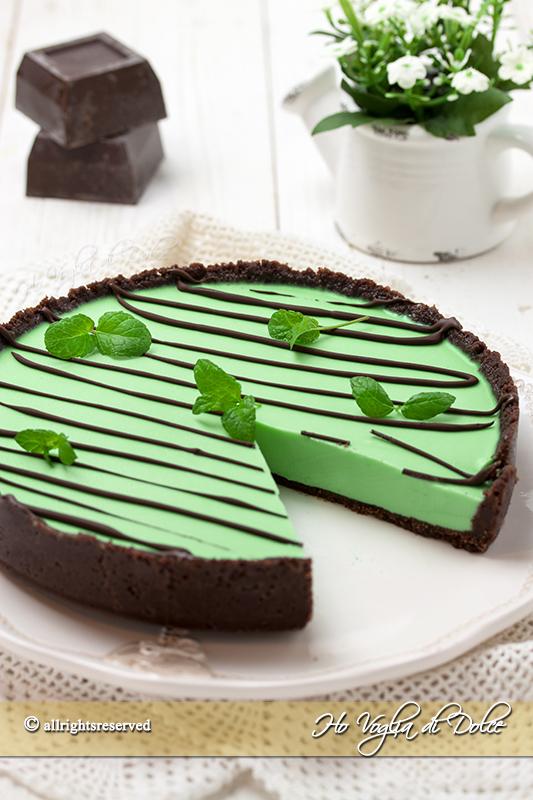 Crostata menta e cioccolato senza cottura ricetta