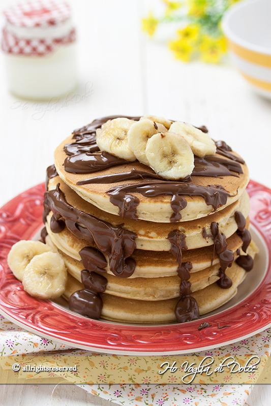 Pancakes banana e Nutella ricetta facile