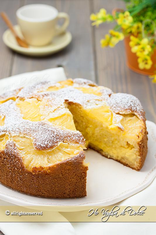 Torta ananas e crema pasticcera ricetta