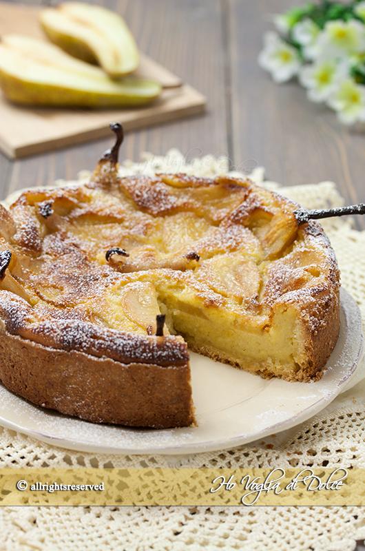 crostata di pere e crema alle mandorle ricetta facile