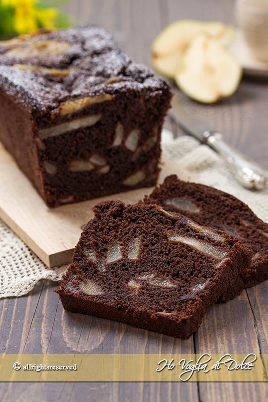 plumcake pere e cioccolato ricetta facile e veloce