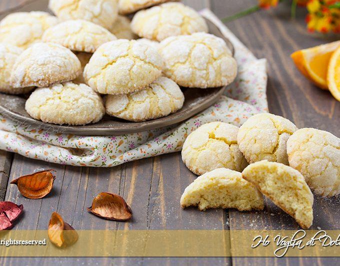 Biscotti all'arancia morbidi ricetta facile