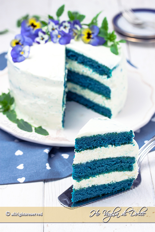 blue velvet cake ricetta torta americana passo passo