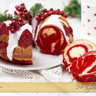 Ciambella Red Velvet marmorizzata