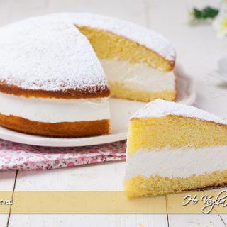Torta paradiso farcita con crema al latte