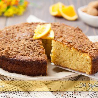 Torta all'arancia e amaretti