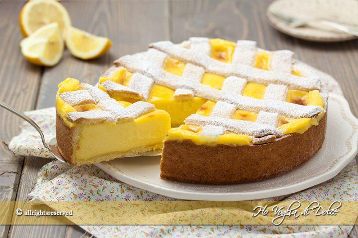 Crostata al limone ricetta passo passo | Ho Voglia di Dolce