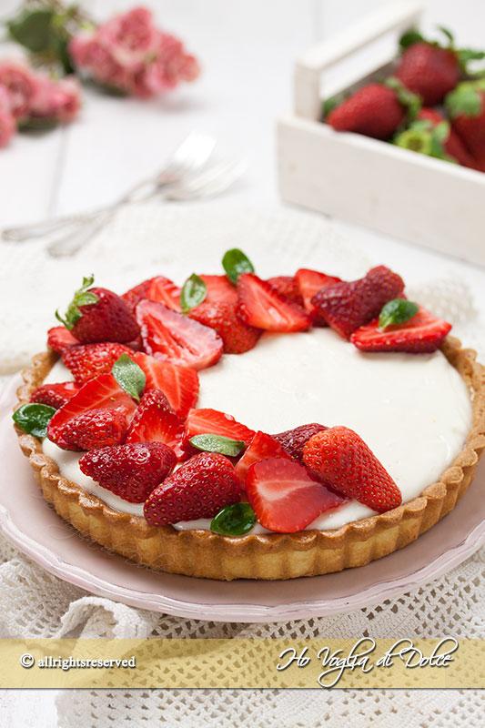 Crostata Di Fragole E Crema Allo Yogurt Ricetta Ho Voglia Di Dolce