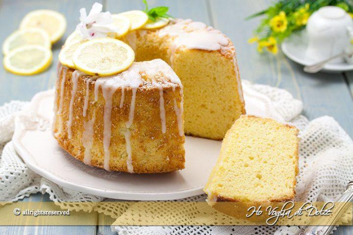 Chiffon cake al limone alta e morbida ricetta | Ho Voglia di Dolce