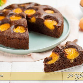 Torta albicocche e cioccolato soffice
