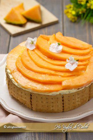 Torta di biscotti al melone senza cottura ricetta | Ho Voglia di Dolce