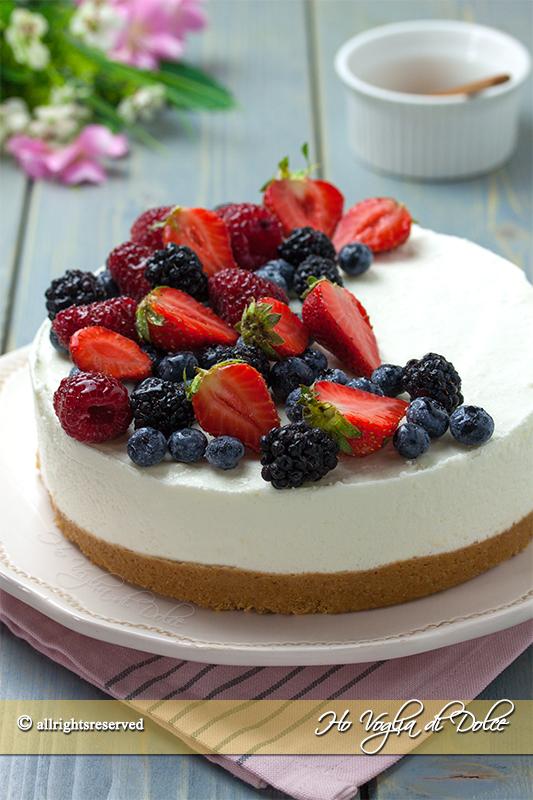 Torta fredda allo yogurt ricetta   Ho Voglia di Dolce