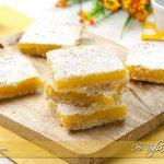 Lemon bars - quadrotti al limone ricetta | Ho Voglia di Dolce