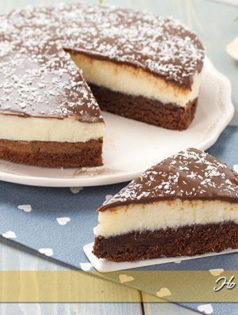 Torta cremosa al cocco e cioccolato ricetta | Ho Voglia di Dolce