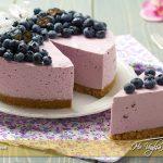 Torta fredda ai mirtilli senza cottura ricetta | Ho Voglia di Dolce