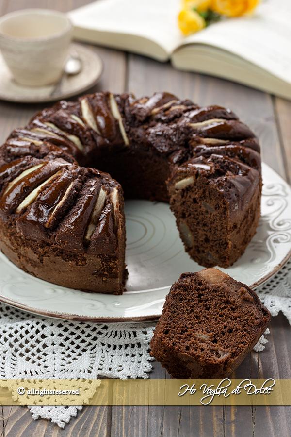 Ciambella alle pere e cioccolato ricetta | Ho Voglia di Dolce
