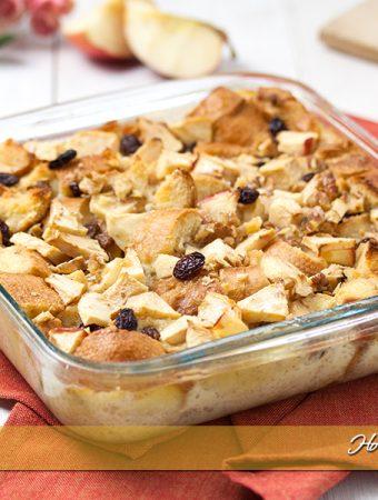 Apple bread pudding ricetta budino di pane e mele | Ho Voglia di Dolce