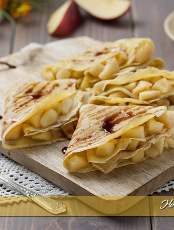 Crepes alle mele ripiene ricetta facile | Ho Voglia di Dolce