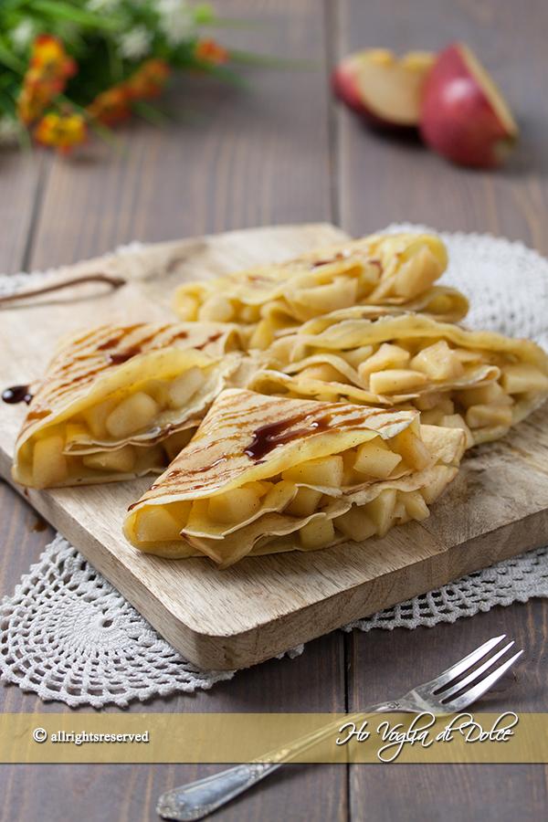 Ricetta crepes con mele