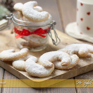 Vanillekipferl biscotti alla vaniglia