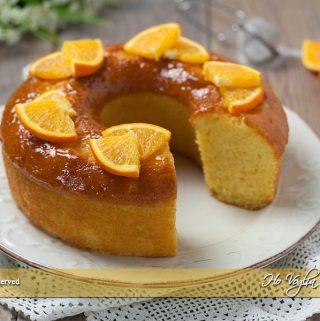 Ciambella all'arancia senza burro e latte