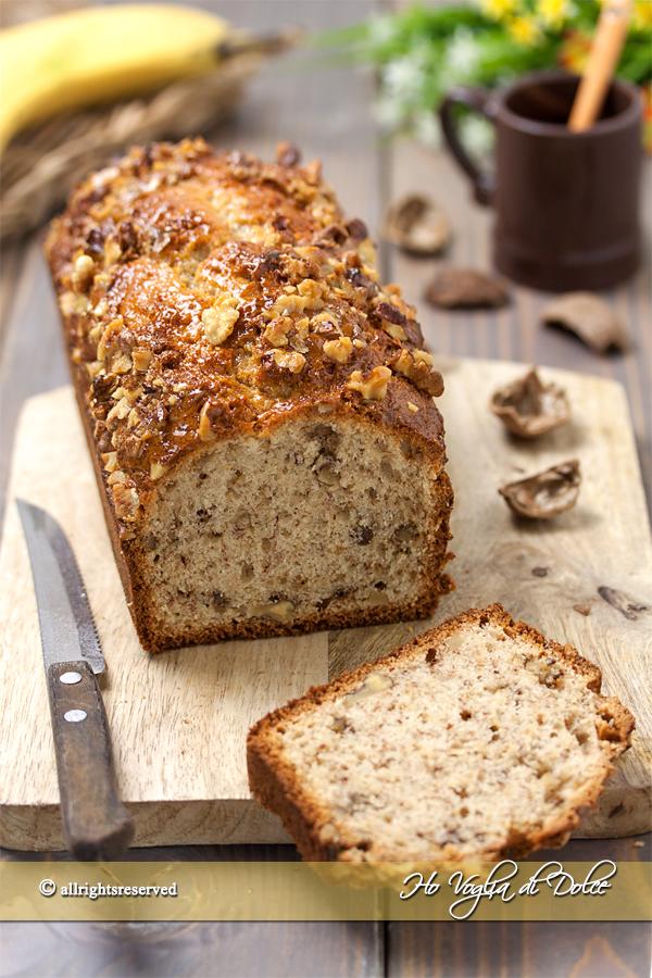 Banana bread alle noci ricetta veloce | Ho Voglia di Dolyce