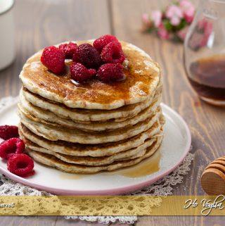 Pancakes con farina integrale senza uova