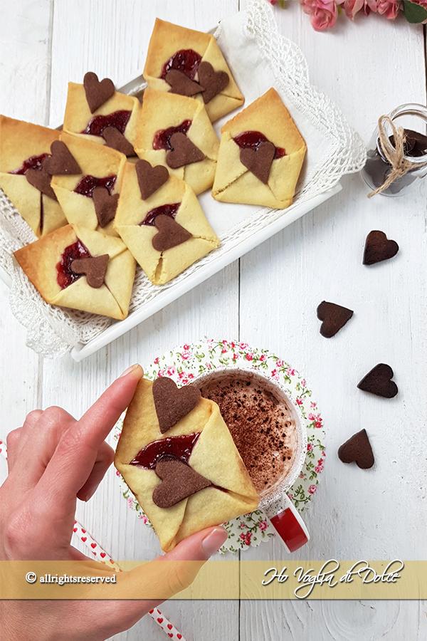 Biscotti lettera d'amore ricetta San Valentino | Ho Voglia di Dolce