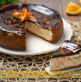 Cheesecake arancia e cioccolato cotta