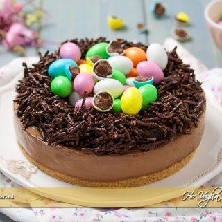 Cheesecake nido di Pasqua