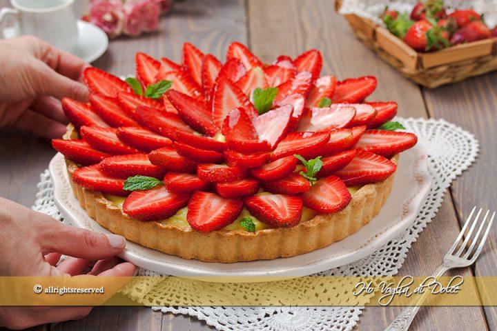 Crostata di fragole e crema ricetta facile | Ho Voglia di Dolce