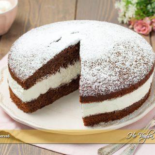 Torta paradiso al cioccolato farcita ricetta | Ho Voglia di Dolce
